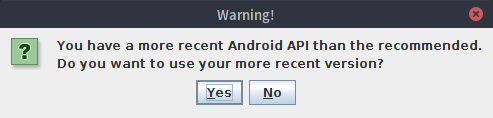 LibGDX Android API Warning